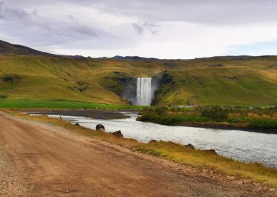 Skogafoss vandfaldet i Island