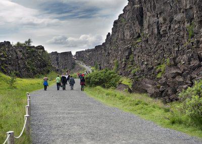 Den spændende kløft i Thingvellir