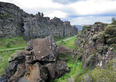 Historisk og geologisk spændende Thingvellir i Island