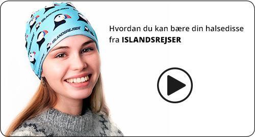 Halsedisse / Buff med ISLANDSREJSER logo. Få en gratis til infomøder