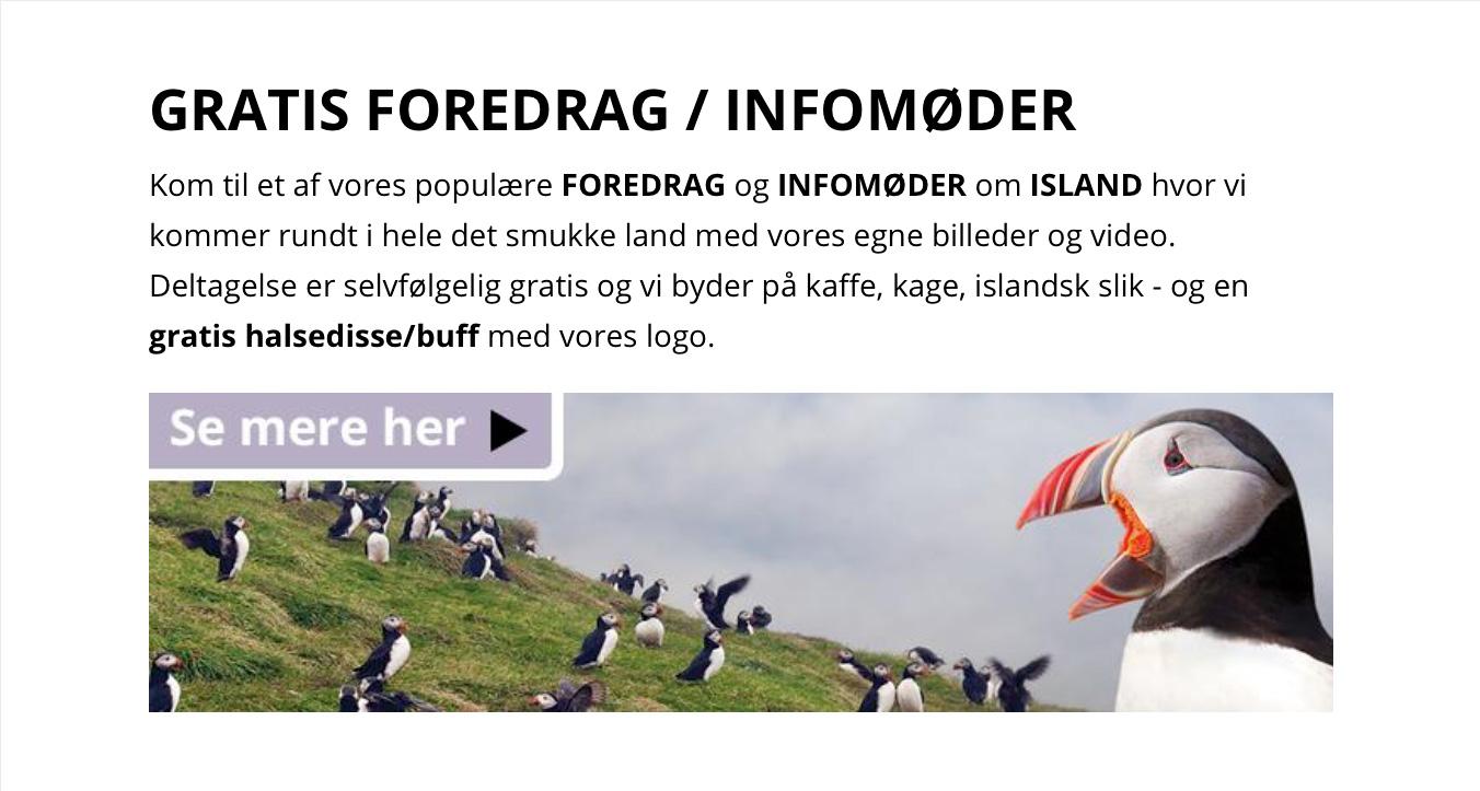 Foredrag om Island