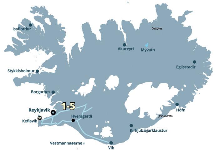 Reykjavik og naturen - grupperejse og hotelophold i Island med ISLANDSREJSER