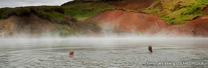 Geotermiske bade i Island med ISLANDSREJSER
