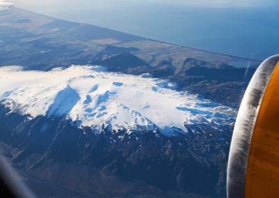 Eyjafjallajökull set fra luften - på kør-selv ferie og bilferie i Island med ISLANDSREJSER