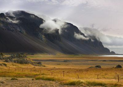 Bjerge ved Østfjordene på kør-selv ferie bilferie og grupperejser i Island med ISLANDSREJSER