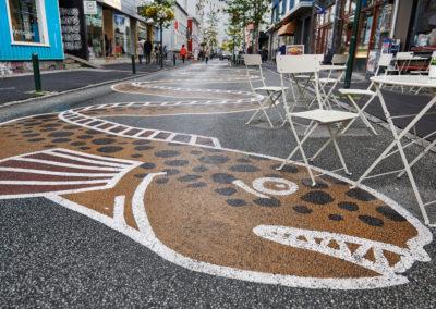 Gadekunst i Reykjavik på kør-selv ferie bilferie og grupperejser i Island med ISLANDSREJSER