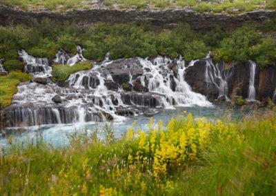 Hraunsfossar på kør-selv ferie og bilferie i Island med ISLANDSREJSER