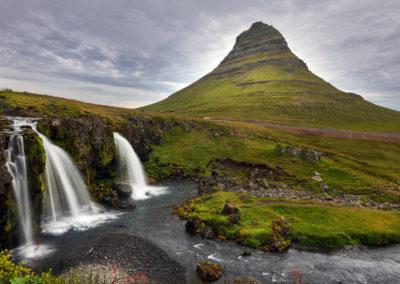 Kirkjufell på Snæfellsnes-halvøen kør-selv ferie og bilferie i Island med ISLANDSREJSER