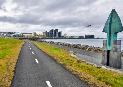 Reykjavik skyline på kør-selv ferie og bilferie i Island med ISLANDSREJSER