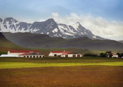 Bjerge ved Borgarnes på kør-selv ferie og bilferie i Island med ISLANDSREJSER