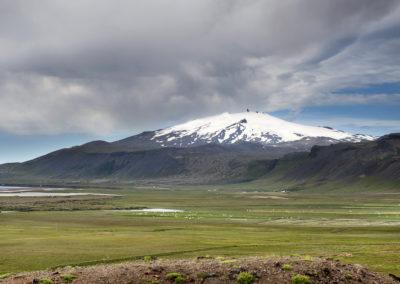 Snæfellsjökull gletsjeren på kør-selv ferie og bilferie i Island med ISLANDSREJSER