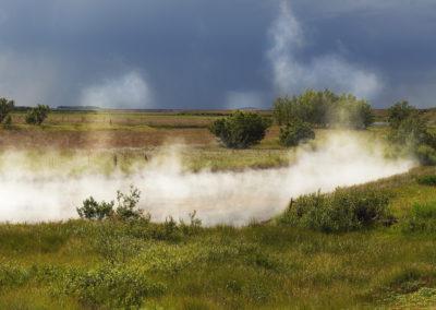Geotermisk aktivitet ved Deildartunguhver på kør-selv ferie og bilferie i Island med ISLANDSREJSER