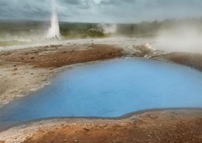 Geysir geotermiske område på kør-selv ferie bilferie og grupperejser i Island med ISLANDSREJSER