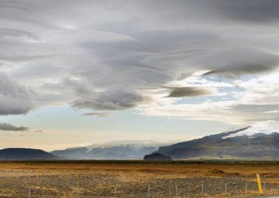 Udsigt til Eyjafjallajökull