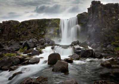 Öxararfoss ved Thingvellir på kør-selv ferie, bilferie og rejser til Island med ISLANDSREJSER
